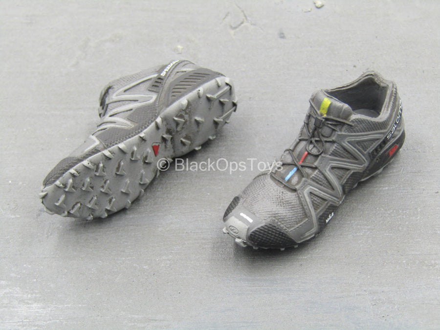 BOOT - Black & Grey Salomon Combat Boots (Peg Type)