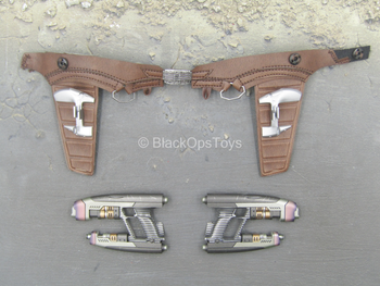 Guardians Of The Galaxy - Blasters (x2) w/Leather Like Dual Holster