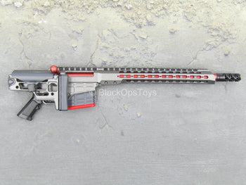 RIFLE - Grey & Red MRAD Sniper Rifle w/Folding Stock