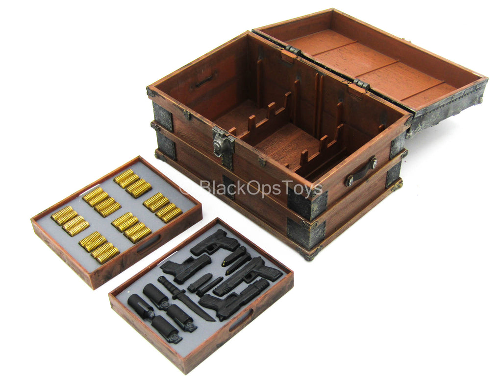 1/12 - John Wick - Chest w/Weapon & Gold Department Set