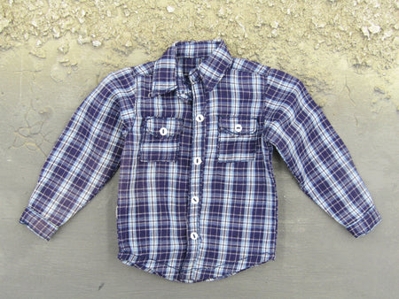 PMC Long Sleeve Plaid Shirt Purple/Blue