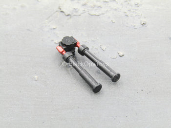 BIPOD - Black & Red Expandable Picatinny