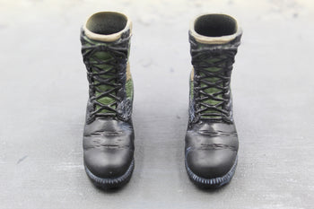 US Air Force - AFSOC - Black & Green Jungle Boots (Foot Type)