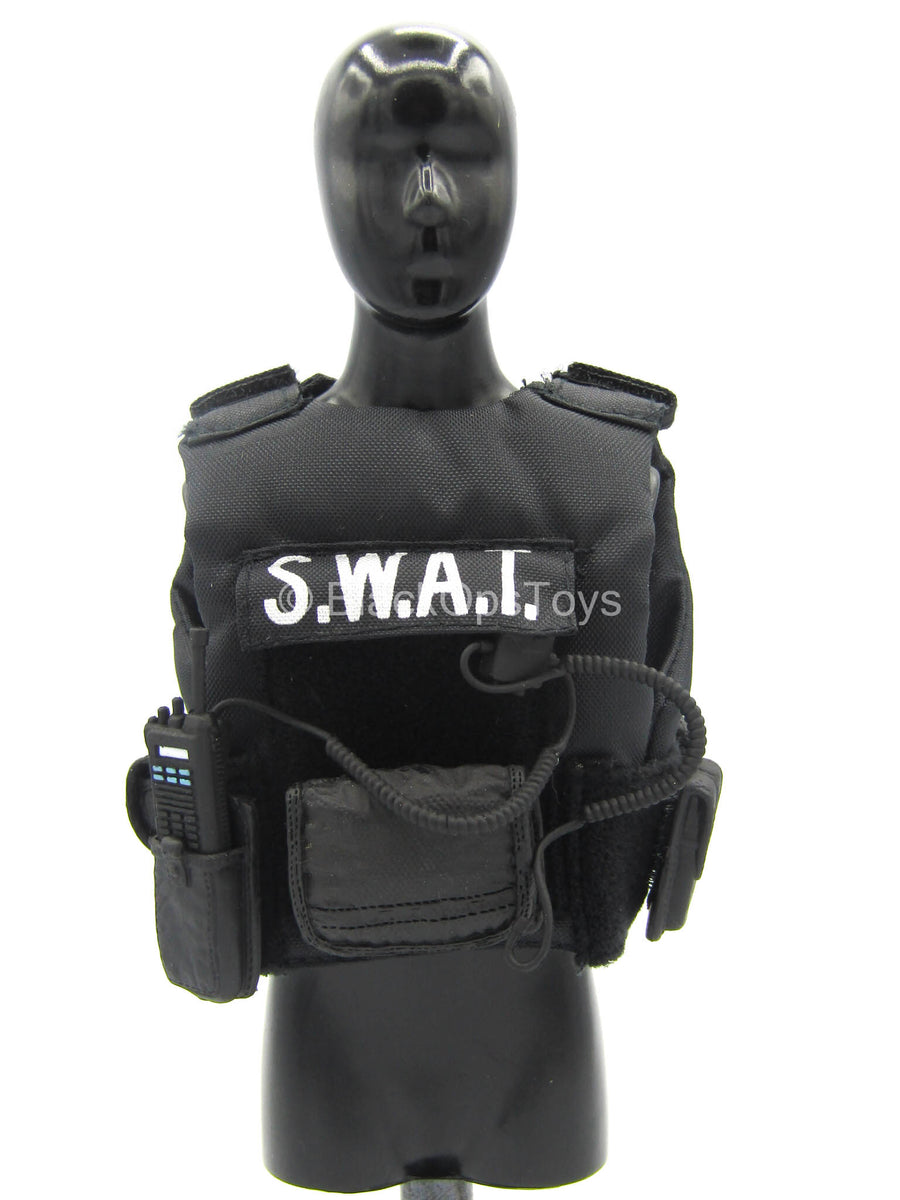 S.W.A.T. Sharpshooter - Black Hook & Loop Vest w/Pouch Set Type 1