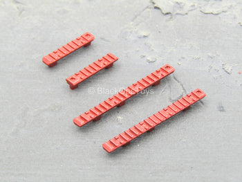 RAIL - Red Keymod Rail Set (x4)