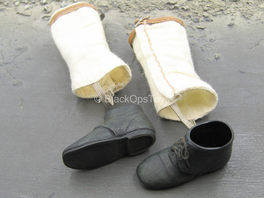 US 2nd Wisconsin Infantry - Black Shoes w/Gaiters (Foot Type)