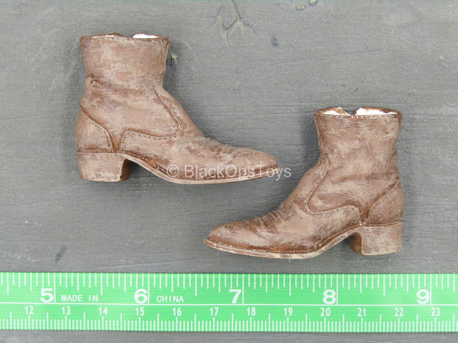 Custom Brown Cowboy Boots (Peg Type)