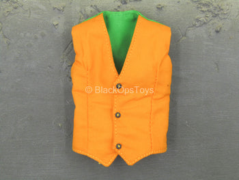 Female Comedian - Orange & Green Vest