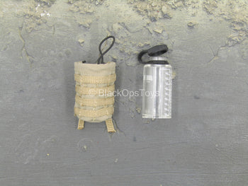 1000ml Space Cup - Clear Water Bottle w/Sand MOLLE Pouch