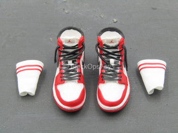 Miles Morales - Red & White Shoes w/Socks (Peg Type)