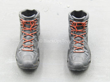 ZERT - Sniper Team - Black & Red Boots (Peg Type)