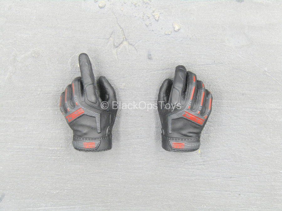 ZERT - Sniper Team - Black & Red Gloved Hand Set