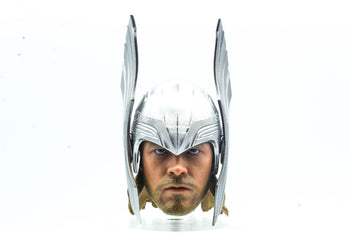 Thor - Male Head Sculpt w/Helmet & Removable Hair