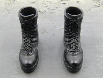 Dark Soldier - Black Combat Boots (Peg Type)