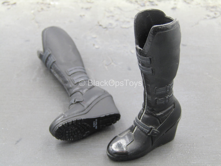 The Avengers - Black Widow - Black Knee-High Boots (Peg Type)