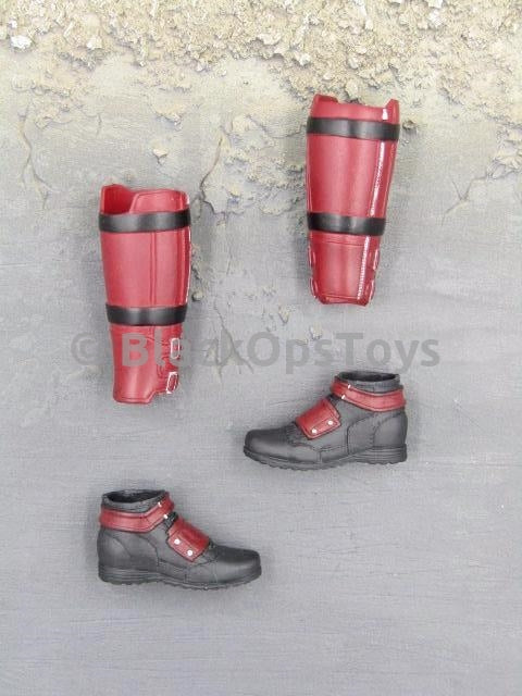 Lady Katana Deadpool Female Boots & Leg Guards Peg Type