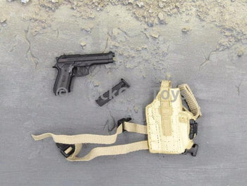 BBI Freedom Force US Army Special Metal M9 Pistol & Dropleg Holster