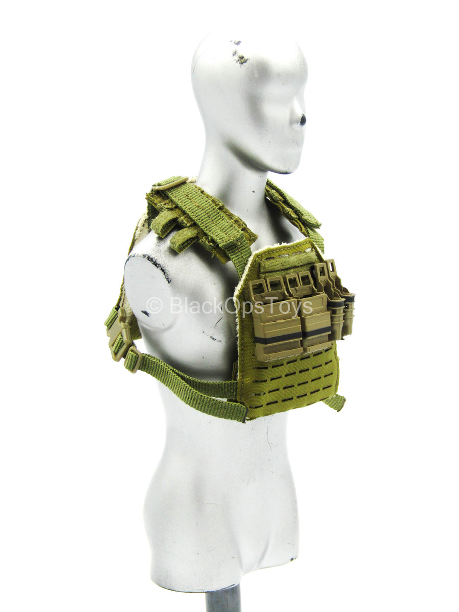 Agency Global Response Staff - Tan MOLLE Vest w/Mag Holsters