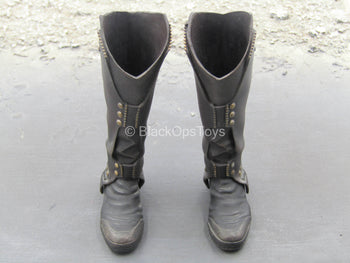The Avengers - Loki - Black Knee-High Boots (Peg Type)
