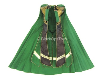 The Avengers - Loki - Long Black Leather-Like Vest w/Cape