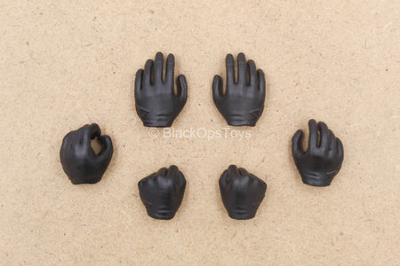 1/12 - Arrow - Black Gloved Hand Set (x6)