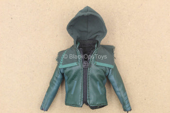 1/12 - Arrow - Green Leather Like Jacket w/Hood