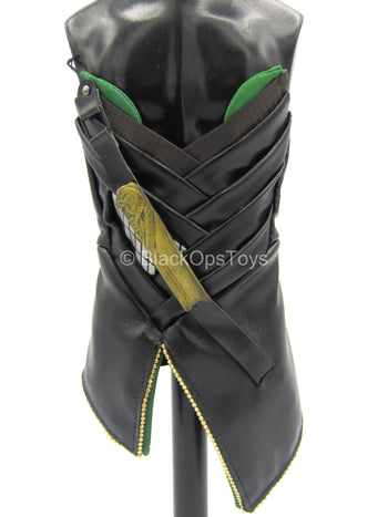The Avengers - Loki - Black Leather-Like Corset