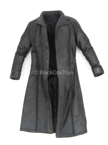 Avengers - Nick Fury - Black Leather Like Trench Coat (Read Desc)