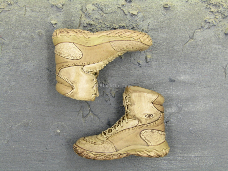 10th Mountain Division Sniper Tan Combat Boots Peg Type