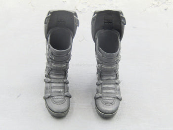 The Falcon - Black Flight Boots w/Calf Attachments (Peg Type)