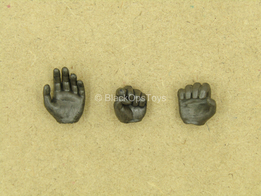 1/12 - League Of Shadows - Brown Armored Gloved Hands (Type 2)
