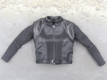 Avengers - Nick Fury - Black Leather Like Shirt