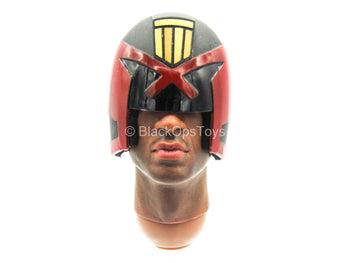 Heavy Armored Special Cop - African American Helmeted Head Sculpt