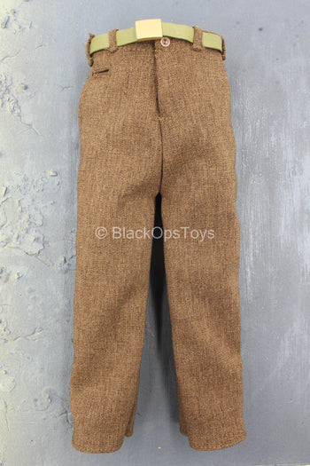WWII - German POW Camp - Brown Pants w/Belt