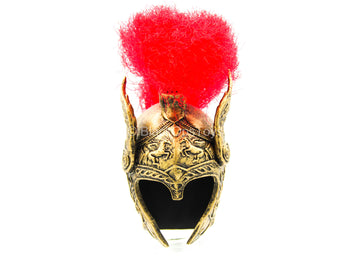 Spartan Goddess Of War - Female Galea Helmet w/Red Plume