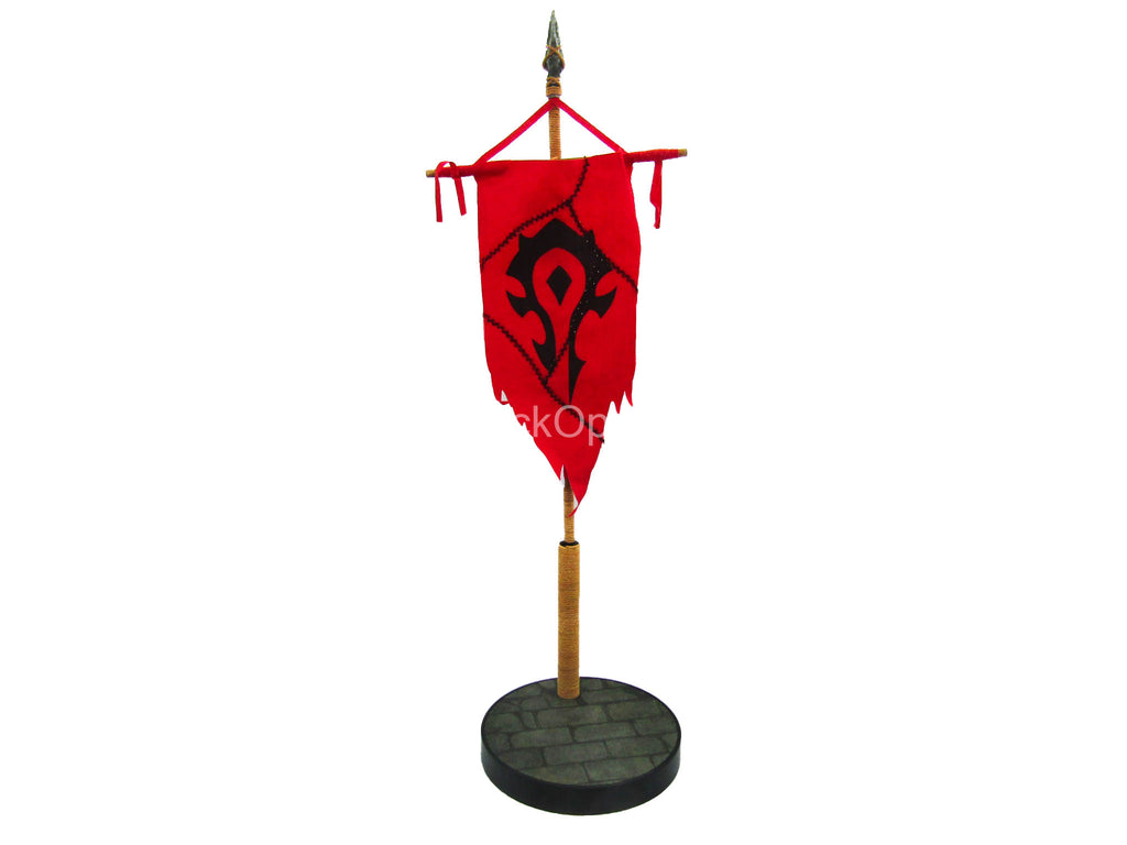WoW - Orc Female Assassin - Base Figure Stand w/Battle Flag