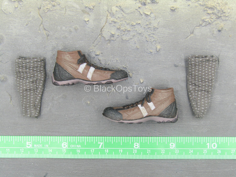 The Dark Knight - The Joker - Brown Boots (Peg Type) w/Socks