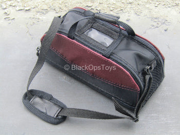 Bank Robber - Carol - Dark Red & Black Duffel Bag