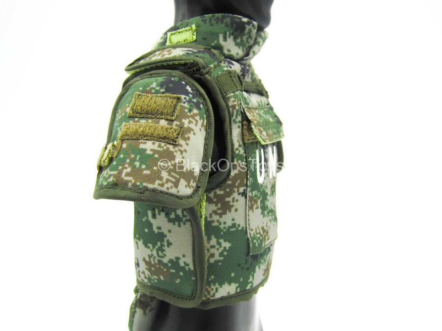 "Female PLA Peacekeeper - Type 07 Pixelated ""UN"" Plate Carrier Vest"