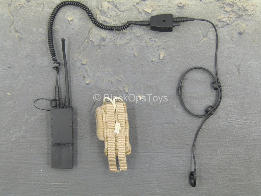 Modern Battlefield - Radio & Head Set w/MOLLE Radio Pouch
