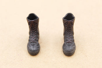 1/12 - Crazy Figure Shared - Black GSG9 Combat Boots (Peg Type)