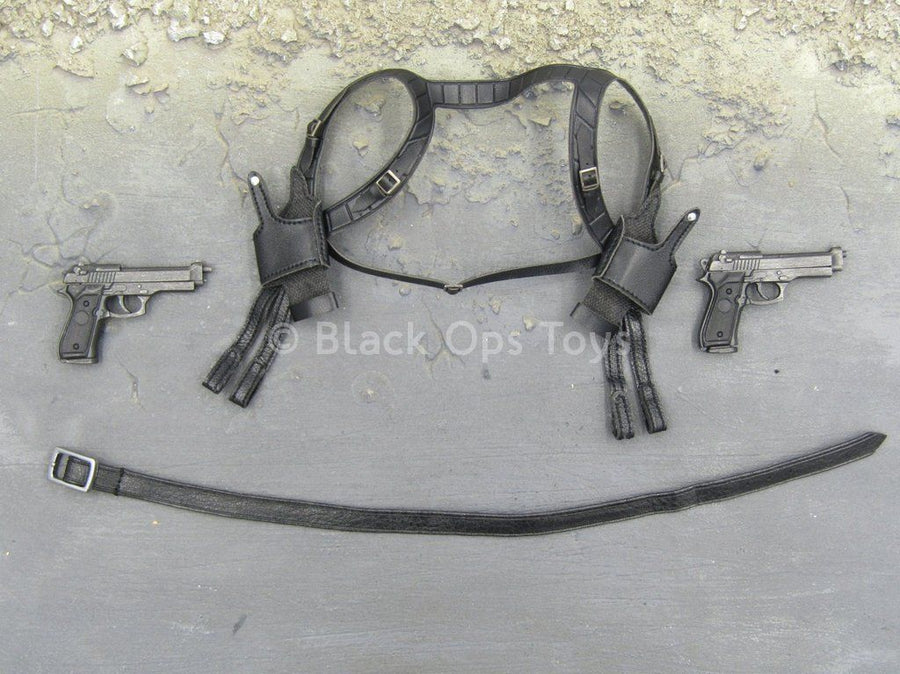 THE MATRIX - Neo - Dual Shoulder Holster & Pistol Set