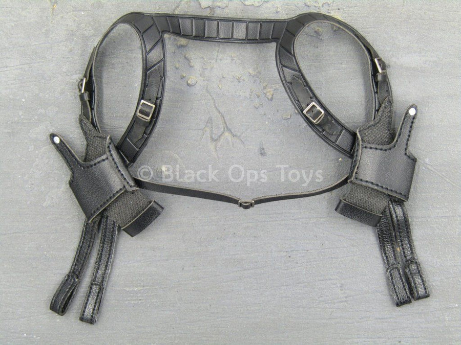 THE MATRIX - Neo - Black Leather Like Dual Shoulder Holster