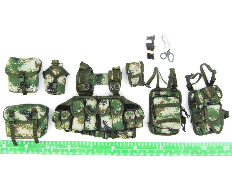 Female PLA Peacekeeper - Type 07 Pixelated Vest & Pouch Set