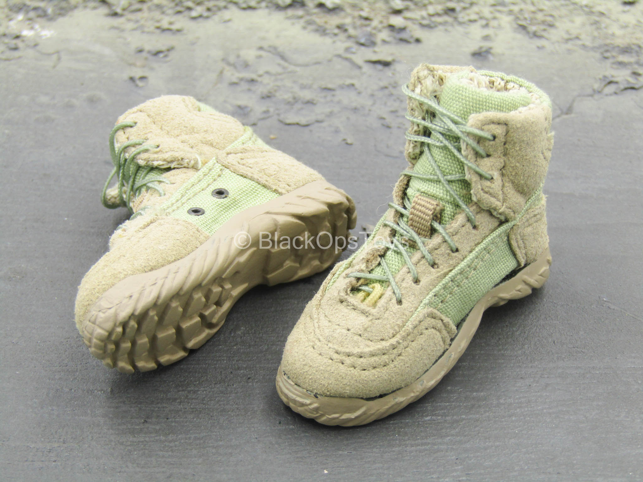1//6 Scale Toy Seal Team 2 HALO Black Combat Boots Foot Type