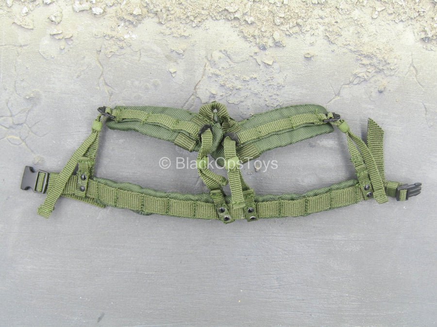 U.S. Navy Seal Team 3 - OD Green Padded Belt w/Suspenders