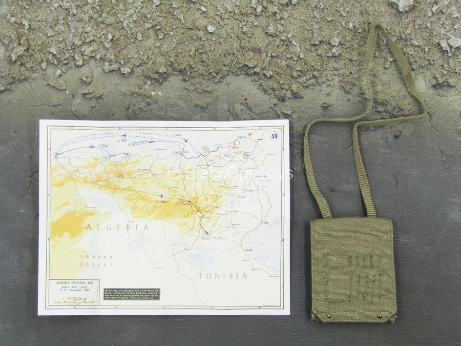WWII - SAS Founder David Sterling - Map Set w/Carry Bag