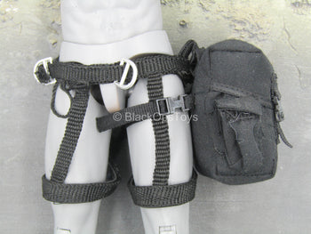 SWAT - Black Climbing Harness w/Tactical Pouch