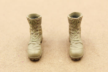 1/12 - 75th Task Force Ranger - Tan Combat Boots (Peg Type)