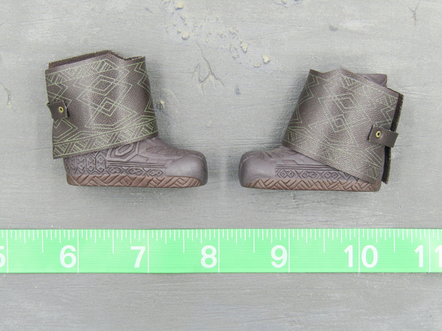 LOTR - Gimli Son Of Gloin - Brown Boots w/Leg Guards (Foot Type)